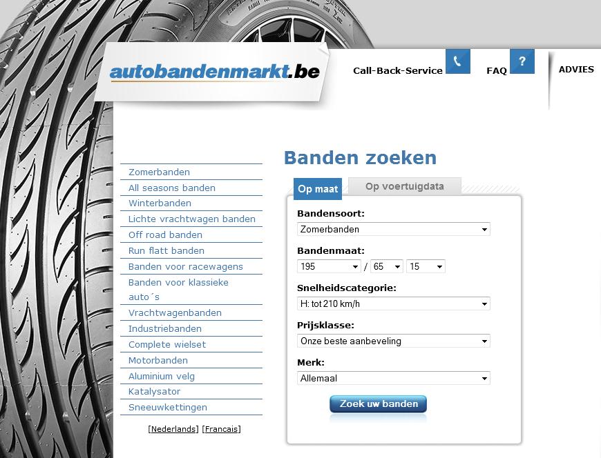 Autobandenmarkt heeft nieuwe website